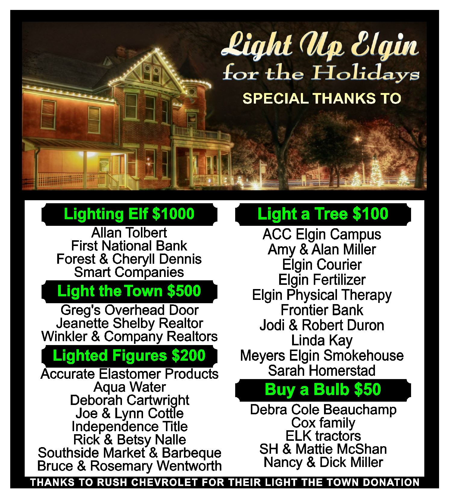 light up elgin sponsor