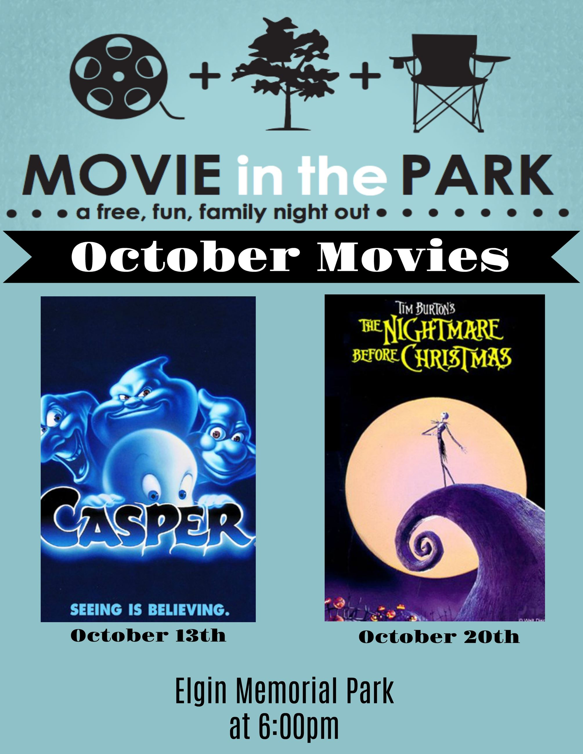 October Movies Flyer