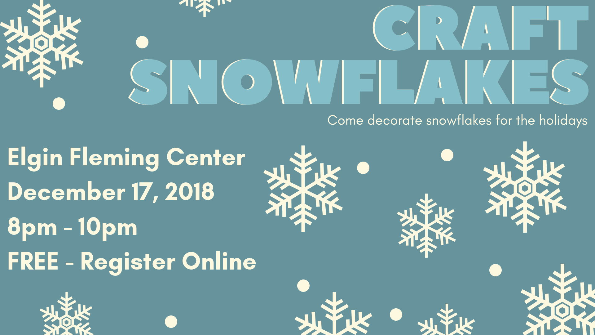 Snowflake crafts 2018