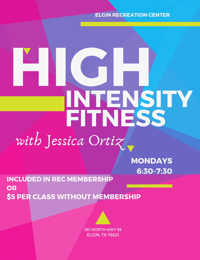 High Intensity Fitness Class with Jessica Ortiz