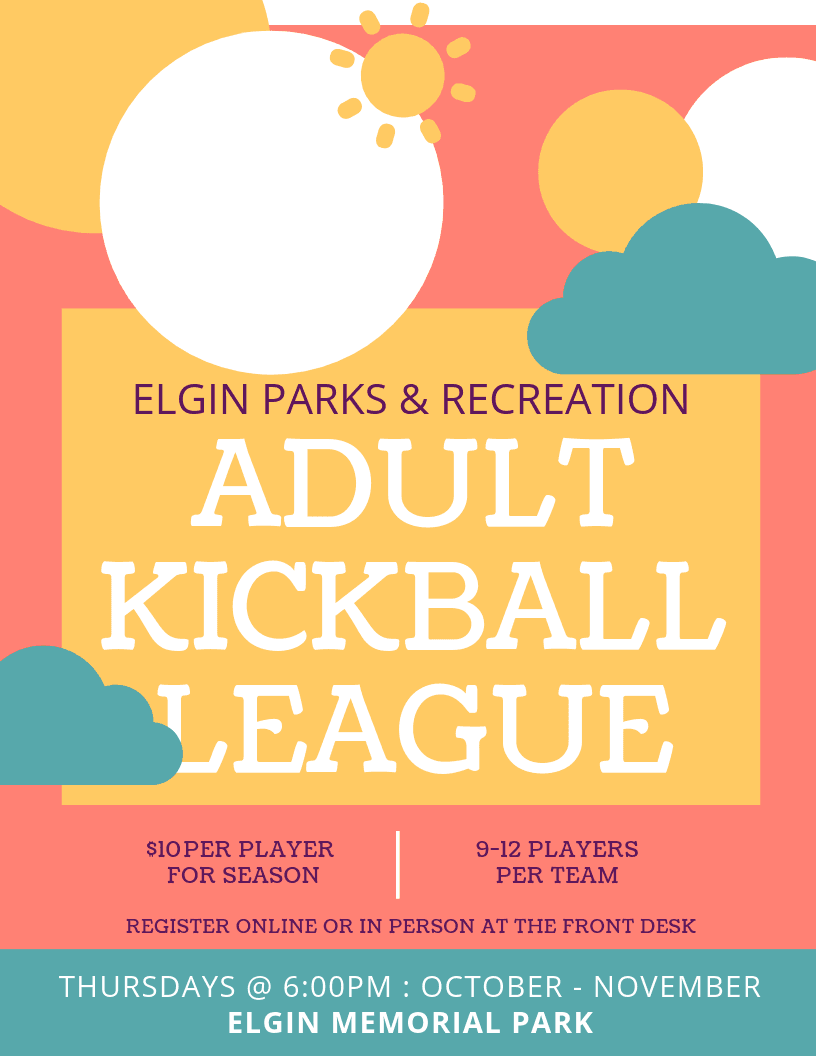 Kickball League Poster