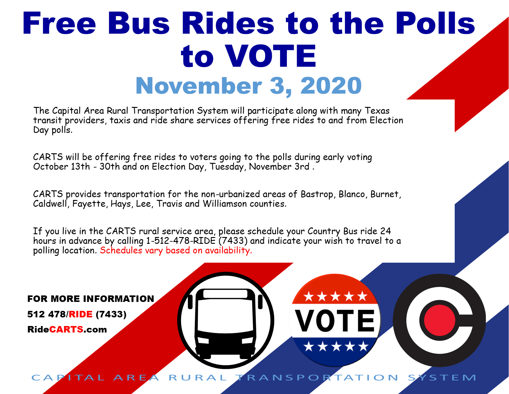 Bus to the polls 2020 - eng