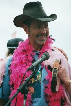 Man Winning Award
