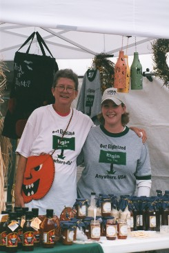 Women Selling Sauces at the Festival