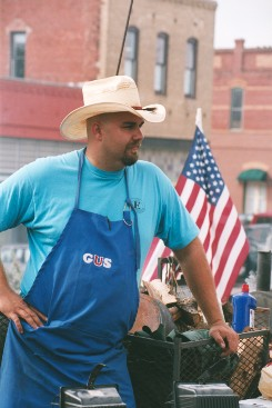 Man Cooking Food