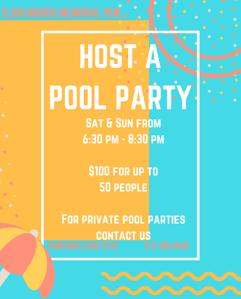 host a pool party