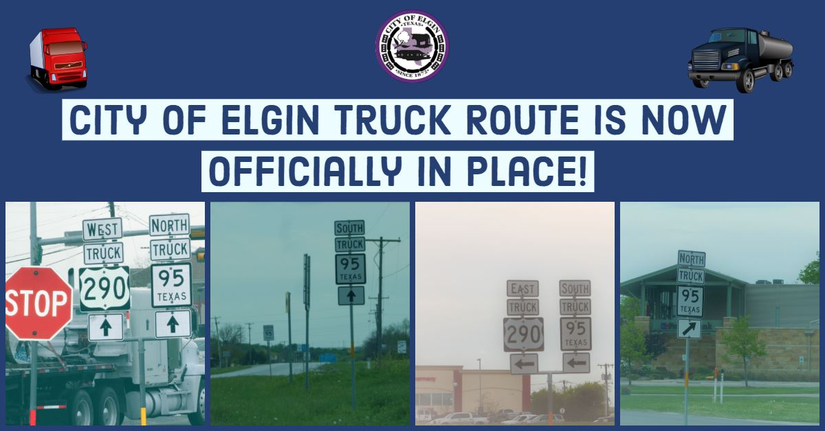 0329 Truck Route Signs