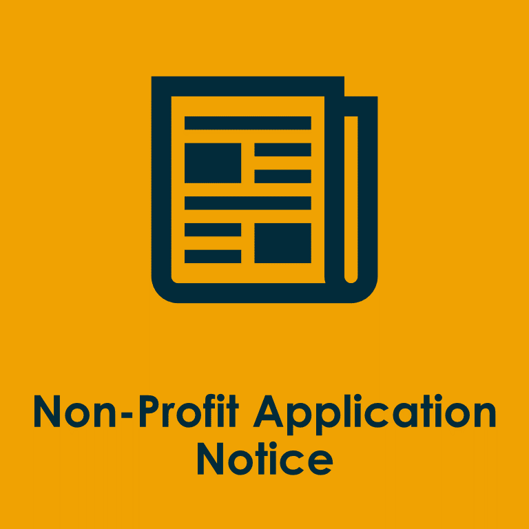 NonProfit Application Notice