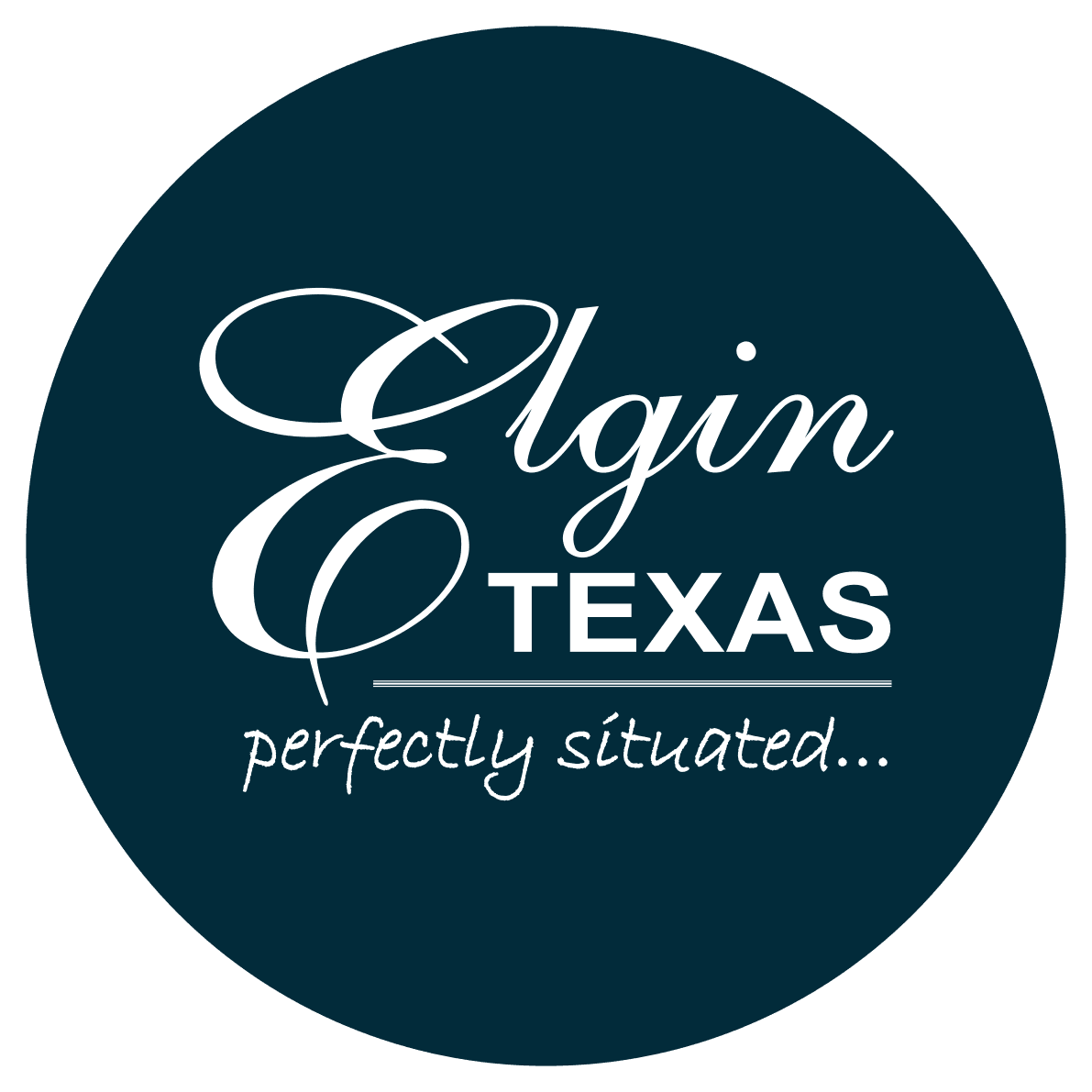 City of Elgin logo - Blue